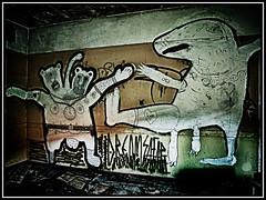 Graffitti (ChrisdMRF) Tags: photoshop graffitti asylum derelict urbex cs5 talkurbex hdrefexpro