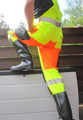 WorkZone hi-viz work wear and black Nora Dolomite (Noraboots1) Tags: boots rubber nora gummistvler arbejdstj