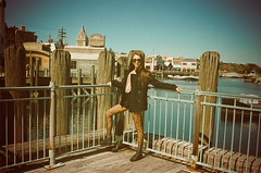 ALEXANDRA MARIE (Ally Newbold) Tags: film water girl fashion marie youth allison seaside orlando dock minolta young guys alexandra teenager hi fl poles universal studios tee boatyard teenage newbold wwwallisonnewboldcom