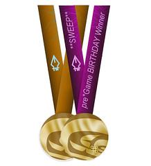 pregame SWEEP purple medal