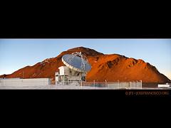 The APEX antenna (josefrancisco.salgado) Tags: chile panorama photoshop nikon desert plateau observatory apex desierto nikkor plain cl llano sanpedrodeatacama observatorio desiertodeatacama atacamadesert repúblicadechile 70300mmf4556gvr republicofchile d3s iiregióndeantofagasta llanodechajnantor provinciadeelloa chajnantorplain llanodechajnantorobservatory atacamapathfinderexperiment