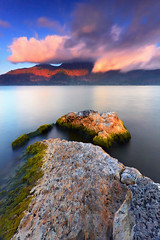 It's Too Heavenly Here (tropicaLiving - Jessy Eykendorp) Tags: longexposure light sunset bali lake nature colors canon reflections indonesia landscape photography eos volcano asia southeastasia outdoor mount crater caldera nd filters 1022mm hitech active batur hoya kintamani canon1022mm gnd 50d ndx400