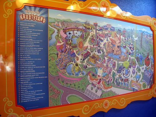 Universal Orlando Florida Map.Universal Orlando Universal Studios Florida The Simpsons Ride