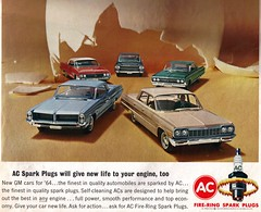 AC Fire-Ring Spark Plugs with 1964 Pontiac, Chevrolet, Buick, Cadillac, and Oldsmobile (coconv) Tags: pictures auto door old 2 two classic cars chevrolet hardtop car sedan vintage magazine advertising cards four catalina photo buick flyer automobile dynamic post image photos antique album postcard air 4 ad picture delta images cadillac 64 98 advertisement vehicles photographs card photograph postcards vehicle pontiac kit autos collectible collectors 88 wildcat ac press deville brochure spark bel eight coupe plugs automobiles olds 1964 oldsmobile dealer biscayne ninetyeight prestige ninety firering