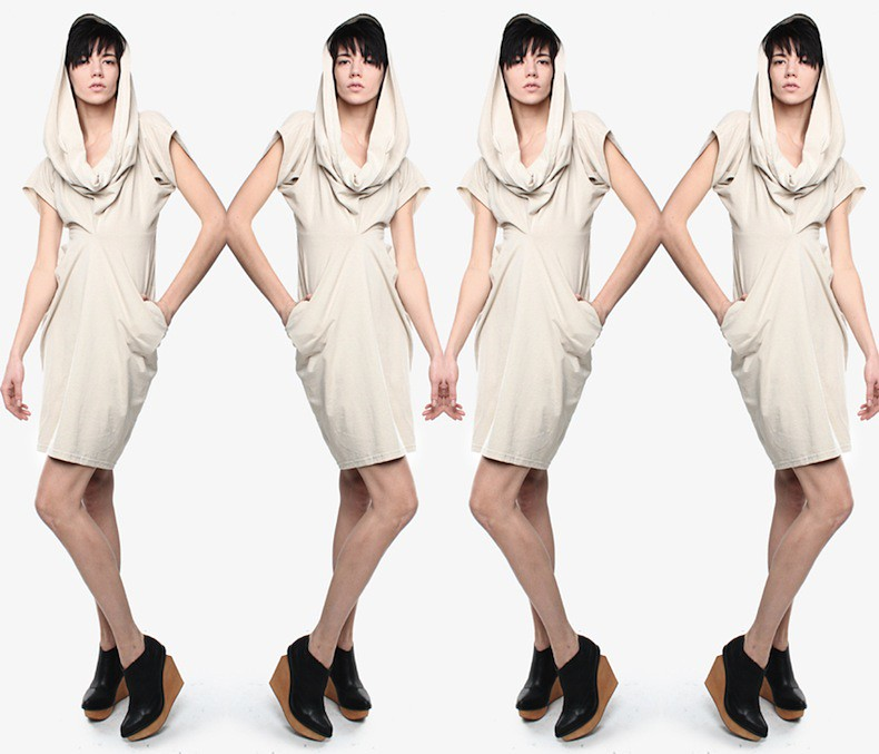 Take Off Your Clothes double t-shirt dress 1