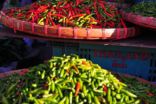 Chillie Madness in the Market -- Chiang Mai, Thailand
