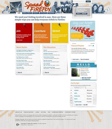 Spread Firefox Homepage