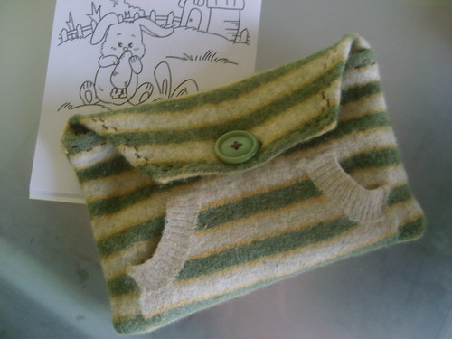 Project Restyle - Felted Jumper Pencil Case