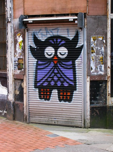 Sleeping Owl Graffiti