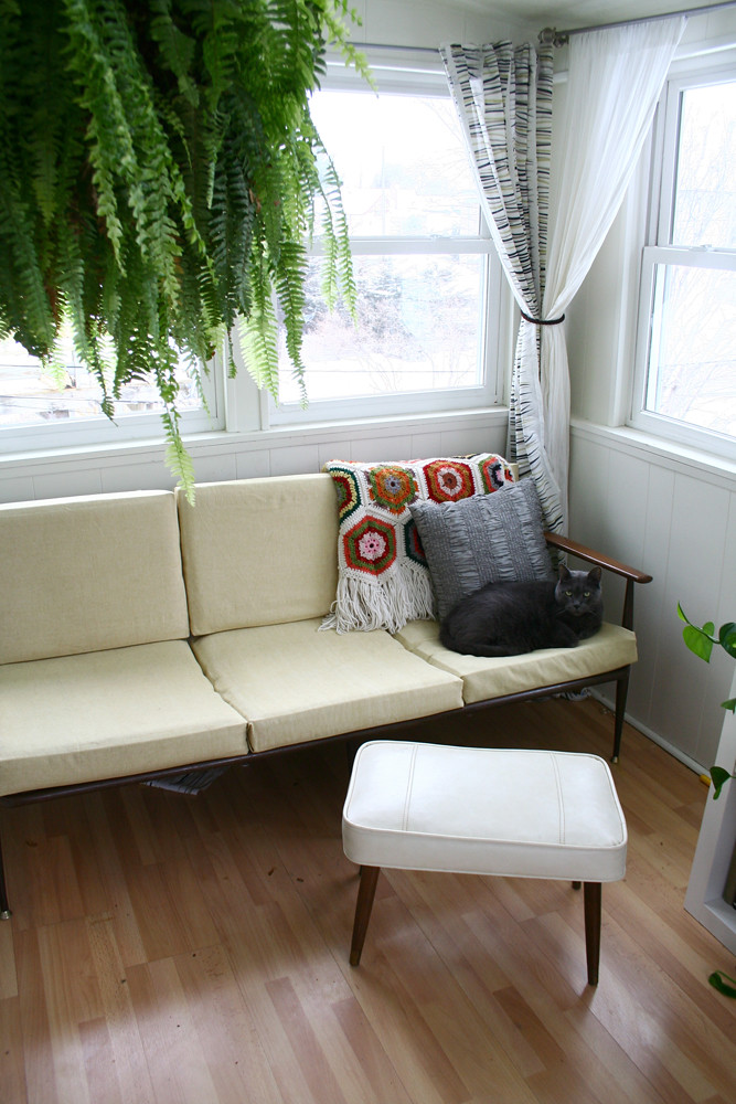 Sofa and Foot stool in upstairs Porch