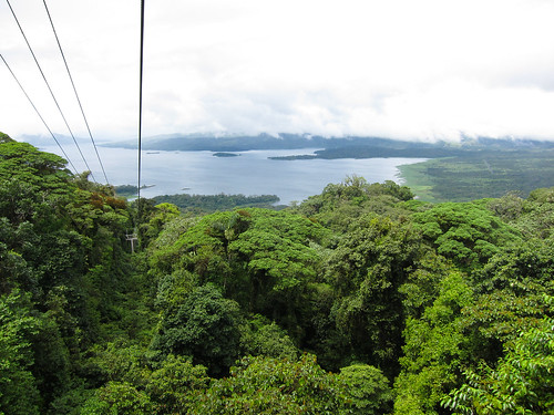 View from Sky Tram near volcano Arenal