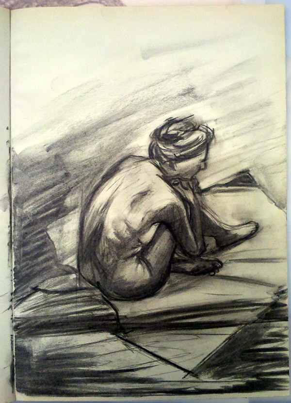 Untitled Charcoal Drawing