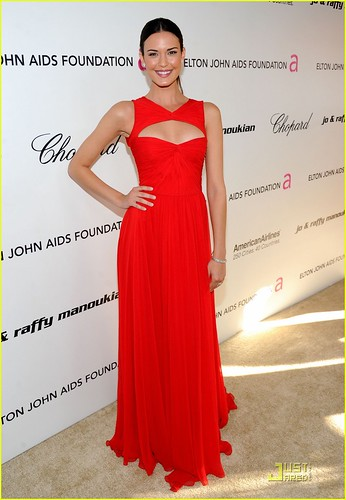 Actress Odette Yustman attends the 19th Annual Elton John AIDS Foundation Academy Awards Viewing Party at the Pacific Design Center on February 27, 2011 in West Hollywood, California.