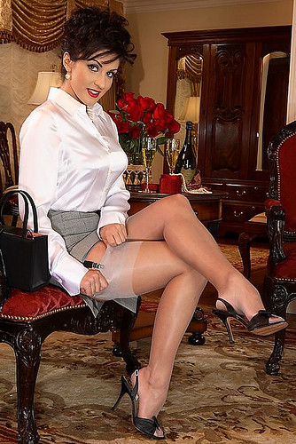 The way stockings or pantyhose which is sexier there place