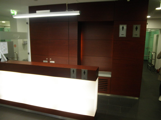 Reception Desk, Public Toilet