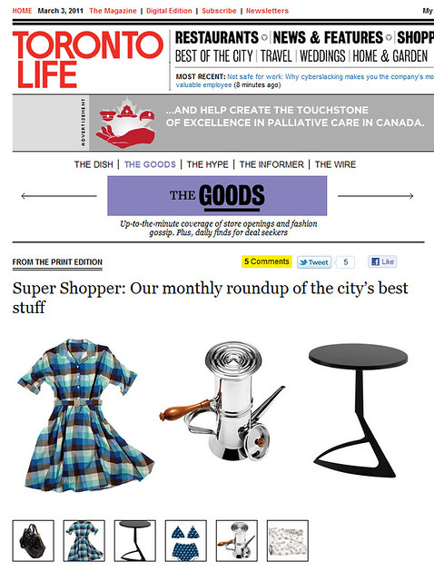 Toronto Life - March 1 2011 - Online by knotpr