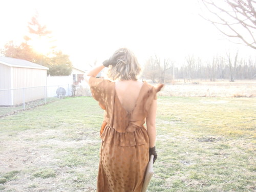 linds copper dress