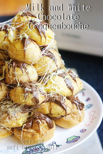 Milk and White Chocolate Croquembouche