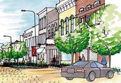 West Union, IA (rendering courtesy of National Trust for Historic Preservation)