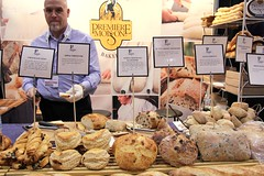 Premiere Moisson's Bread Selection (Renée S. Suen) Tags: food toronto apple bread display coconut chocolate olive honey pastry hazelnut turnover boule bakedgood ciabatta premieremoisson canadianrestaurantandfoodservicesassociation 2011crfashow