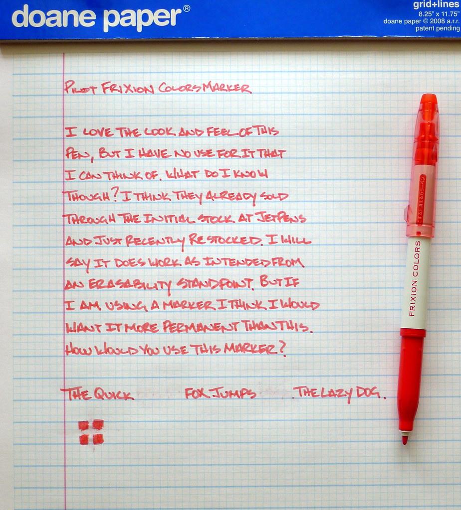 Pilot Frixion Colors Erasable Marker Review The Pen Addict