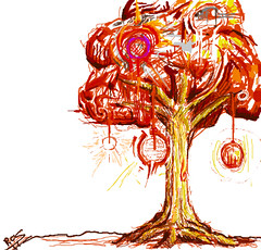 energy (Robert_Silver83) Tags: new red orange abstract tree art robert colors yellow digital silver crazy mix energy colorful natural drawing picture growth splash trippy multicolored 2011
