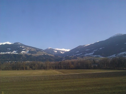 Austria from the train
