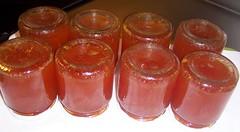 mermelada en tarros