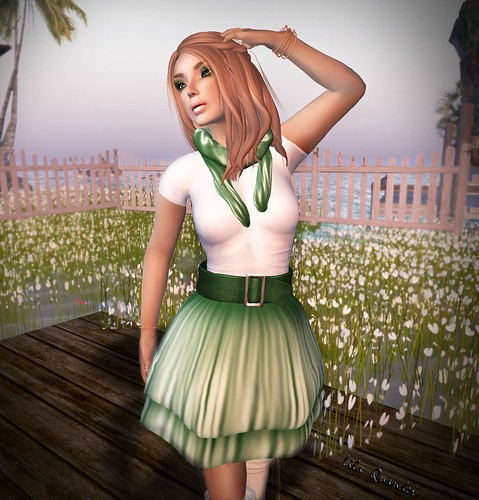 IZZIE'S Think Green Spring Outfit (WhiteTop) TOSL