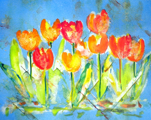 Tulips in Watercolor