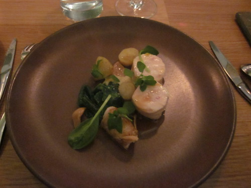 Commis - Oakland - January 2011 - Pressed Guinea Fowl, Young and Braised Garlic with Potato