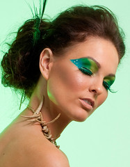 Heidi Rebecca Workshop (ashiie05) Tags: blue green art beautiful diamonds model eyelashes avatar feathers peacock tribal workshop accessories toned bikinis peacockmakeup