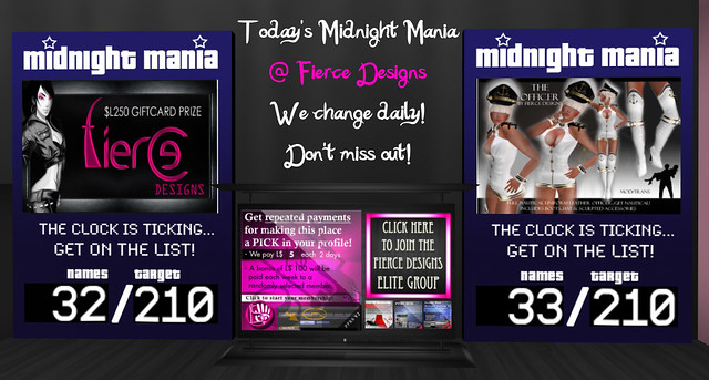 Fierce Midnight Mania 13.03