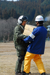 Aid workers in Japan following 2011 earthquake