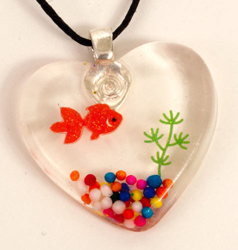 Basic Fish Tank Pendant Necklace
