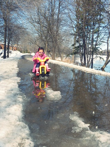 a trike and a puddle...