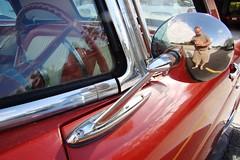 1956 Ford Thunderbird (Burnt Umber) Tags: auto red urban usa ford car logo cherry mirror automobile top hard explore bumper chrome 1956 insignia thunderbird coupe 56 fins ue urbex convertable flurbex rpilla001