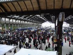 La Gare de Lyon depuis le restaurant du train bleu