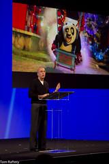 Jeff Katzenberg speaking at the HP Summit