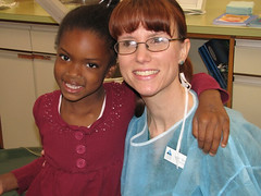 Dental Hygienist and Happy Patient