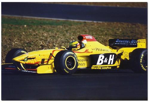 Ralf Schumacher Jordan Peugeot 197 F1. British GP Test Silverstone 1997 by Antsphoto