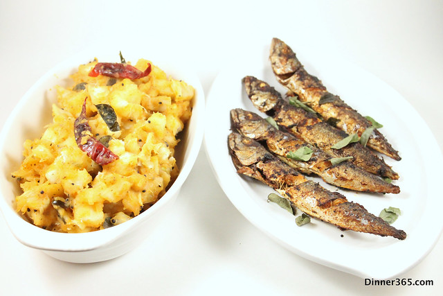 Day 77 - Mackerel Fry and Spicy Tangy Tapioca Stir fry
