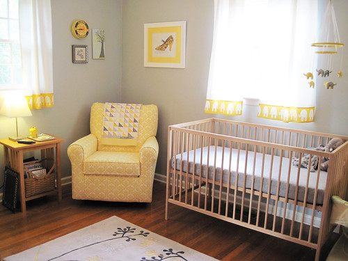 yellow & gray elephant nursery