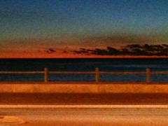 Pixelated iPhone Sunset (Monstar888) Tags: ocean sunset sea sky abstract colour texture beach nature water landscape seaside sand pattern angle perspective textures picturesque linear pixelated