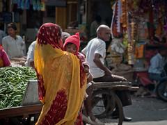 The smallest one (Louwuselchen) Tags: street people india children nikon market mother bazaar rajasthan udaipur d5000