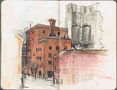 Portland Sketchcrawl - Brewery Blocks
