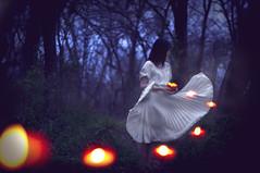 I'll Find My Way (Jordan Lackey) Tags: orange white forest dark woods candle dress pentax bokeh 14 jordan flip lackey londonscene brookeshaden