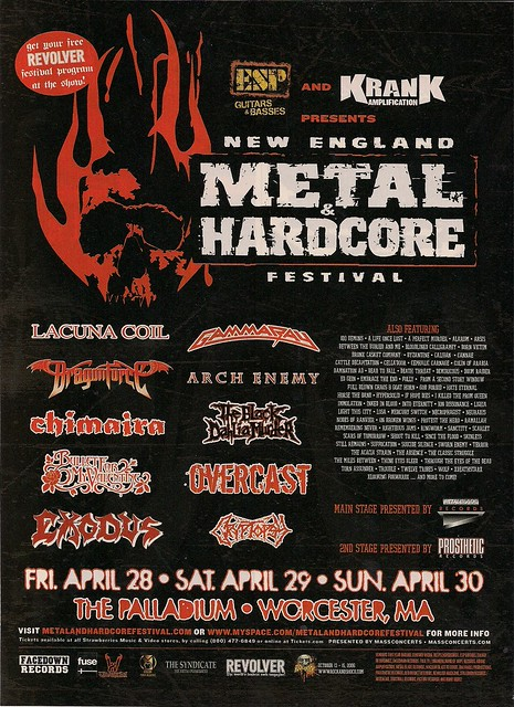04/29 & 30/06 New England Metal & Hardcore Fest @ Worcester, MA