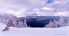Frosting Crater Lake (Dan Sherman) Tags: winter lake snow cold pine oregon pines crater caldera pacificnorthwest craterlake wizardisland snowscape winterscape craterlakenationalpark oregoncascades oregonwinter oregonlandscape dansherman pacificnorthwestlandscape snowypines oregonmountains pacificnorthwestphotography pacificnorthwestmountains oregonforests pacificnorthwestwinter danielsherman craterlakesnow craterlakewinter danshermanphotography dshermanphotography danshermanphotographycom dshermanphotographycom danielshermanphotography pacificnorthwestwinterscape