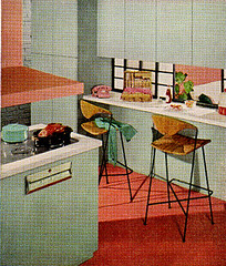 Sherwin William Home Decorator 1959 (obsequies) Tags: pink house home kitchen colors vintage magazine grey mod paint colours designer funky retro artsy 1950s howto booklet decor groovy 1959 decorator sherwinwilliams